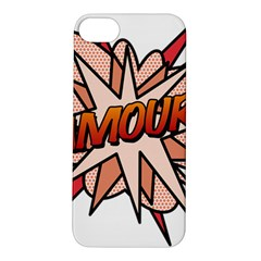 Comic Book Amour! Apple Iphone 5s Hardshell Case by ComicBookPOP
