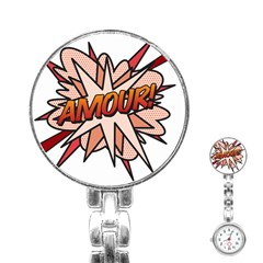 Comic Book Amour! Stainless Steel Nurses Watches by ComicBookPOP
