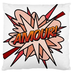 Comic Book Amour! Standard Flano Cushion Cases (one Side)  by ComicBookPOP