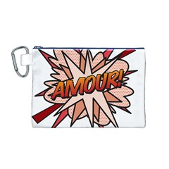 Comic Book Amour! Canvas Cosmetic Bag (m) by ComicBookPOP