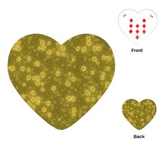 Snow Stars Golden Playing Cards (heart)  by ImpressiveMoments
