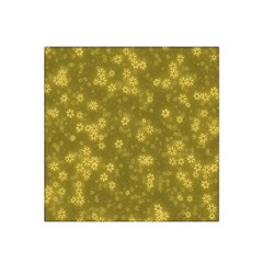 Snow Stars Golden Satin Bandana Scarf