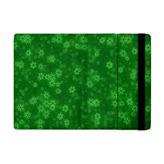 Snow Stars Green Apple Ipad Mini Flip Case by ImpressiveMoments