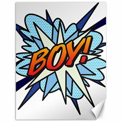 Comic Book Boy! Canvas 12  X 16   by ComicBookPOP