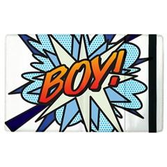 Comic Book Boy! Apple Ipad 3/4 Flip Case by ComicBookPOP