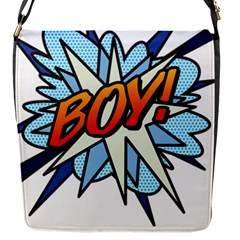 Comic Book Boy! Flap Messenger Bag (S) by ComicBookPOP