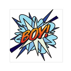 Comic Book Boy! Small Satin Scarf (square)  by ComicBookPOP