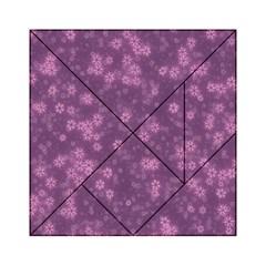 Snow Stars Lilac Acrylic Tangram Puzzle (6  x 6 ) by ImpressiveMoments