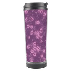 Snow Stars Lilac Travel Tumblers by ImpressiveMoments