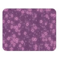 Snow Stars Lilac Double Sided Flano Blanket (large)  by ImpressiveMoments