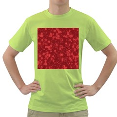Snow Stars Red Green T-Shirt by ImpressiveMoments