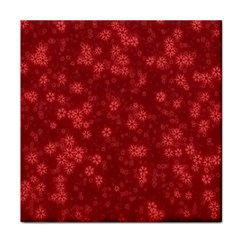 Snow Stars Red Face Towel by ImpressiveMoments