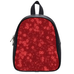 Snow Stars Red School Bags (small)  by ImpressiveMoments