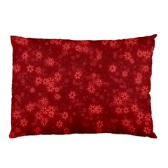 Snow Stars Red Pillow Cases (two Sides)