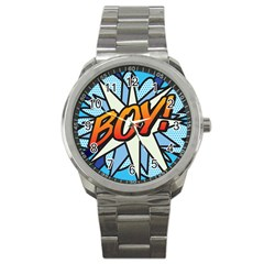 Comic Book Boy!  Sport Metal Watches by ComicBookPOP