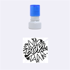 Comic Book Boy!  Rubber Round Stamps (small)