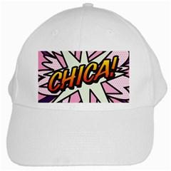 Comic Book Chica!  White Cap by ComicBookPOP