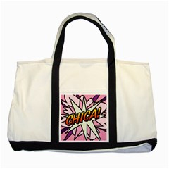 Comic Book Chica!  Two Tone Tote Bag  by ComicBookPOP