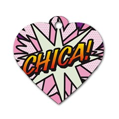 Comic Book Chica!  Dog Tag Heart (two Sides) by ComicBookPOP