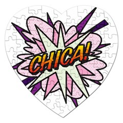 Comic Book Chica! Jigsaw Puzzle (Heart) by ComicBookPOP