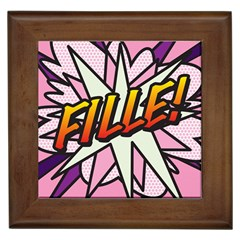 Comic Book Fille! Framed Tiles by ComicBookPOP