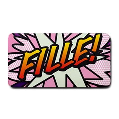 Comic Book Fille! Medium Bar Mats by ComicBookPOP
