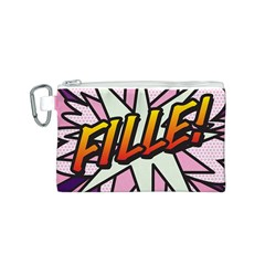 Comic Book Fille! Canvas Cosmetic Bag (s) by ComicBookPOP