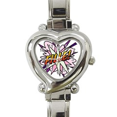 Comic Book Fille! Heart Italian Charm Watch by ComicBookPOP