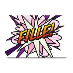 Comic Book Fille! Plate Mats by ComicBookPOP