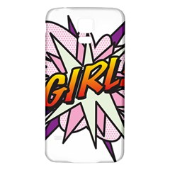 Comic Book Girl!  Samsung Galaxy S5 Back Case (white) by ComicBookPOP