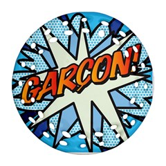 Comic Book Garcon! Round Filigree Ornament (2side) by ComicBookPOP