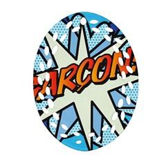 Comic Book Garcon! Oval Filigree Ornament (2-Side)  by ComicBookPOP