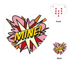 Comic Book Mine! Playing Cards (heart)  by ComicBookPOP
