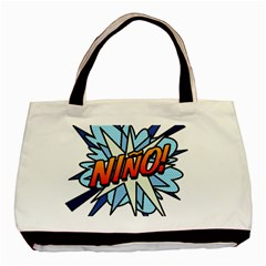 Comic Book Nino! Basic Tote Bag (Two Sides)  by ComicBookPOP