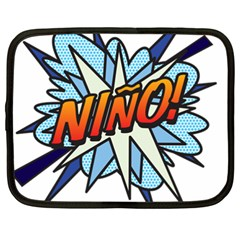 Comic Book Nino! Netbook Case (xxl)  by ComicBookPOP