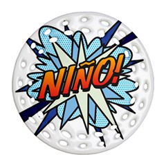 Comic Book Nino! Round Filigree Ornament (2side) by ComicBookPOP