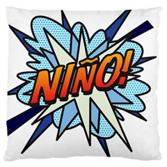 Comic Book Nino! Large Cushion Cases (two Sides)  by ComicBookPOP