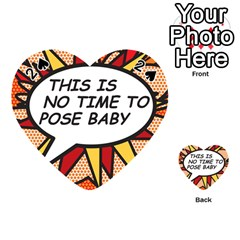 Comic Book This Is No Time To Pose Baby Playing Cards 54 (Heart)  by ComicBookPOP