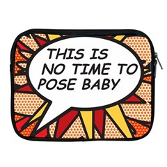 Comic Book This Is No Time To Pose Baby Apple iPad 2/3/4 Zipper Cases by ComicBookPOP