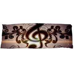 Music, Wonderful Clef With Floral Elements Body Pillow Cases Dakimakura (Two Sides)  by FantasyWorld7