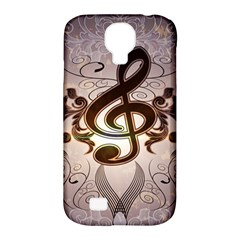 Music, Wonderful Clef With Floral Elements Samsung Galaxy S4 Classic Hardshell Case (pc+silicone) by FantasyWorld7
