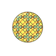 Shapes On A Yellow Background Hat Clip Ball Marker (4 Pack) by LalyLauraFLM