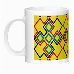 Shapes On A Yellow Background Night Luminous Mug by LalyLauraFLM