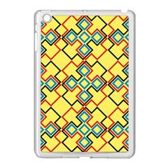 Shapes On A Yellow Background Apple Ipad Mini Case (white) by LalyLauraFLM