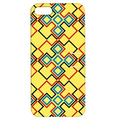 Shapes On A Yellow Background Apple Iphone 5 Hardshell Case With Stand by LalyLauraFLM