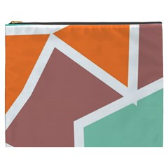 Misc Shapes In Retro Colors Cosmetic Bag (xxxl) by LalyLauraFLM