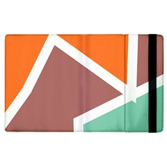 Misc Shapes In Retro Colors Apple Ipad 2 Flip Case by LalyLauraFLM