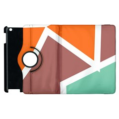 Misc Shapes In Retro Colors Apple Ipad 3/4 Flip 360 Case by LalyLauraFLM