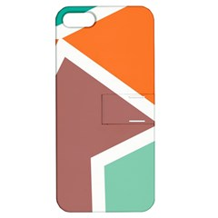 Misc Shapes In Retro Colors Apple Iphone 5 Hardshell Case With Stand by LalyLauraFLM