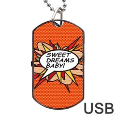 Sweet Dreams Baby!  Dog Tag USB Flash (Two Sides)  by ComicBookPOP